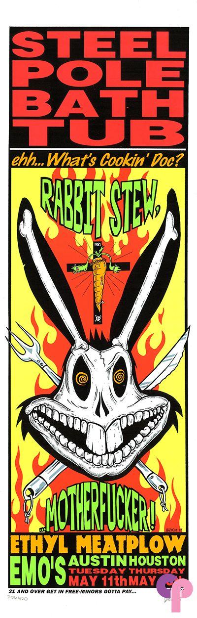 Steel Pole Bathtub at Emo's, Austin, TX, 5/11/93 by Frank Kozik