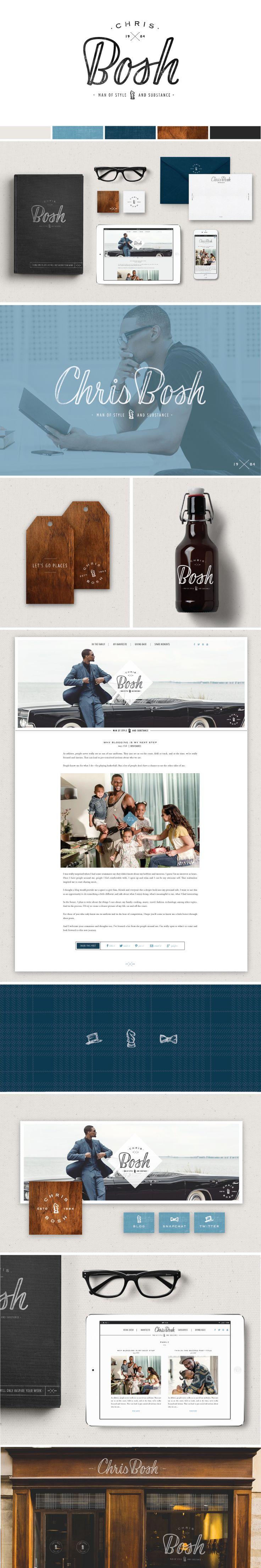 Brand and Website Launch for Chris Bosh - Saffron Avenue : Saffron Avenue