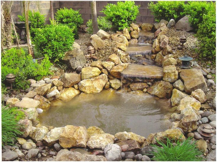 30 best images about waterfall on pinterest backyard for Garden pond waterfall ideas