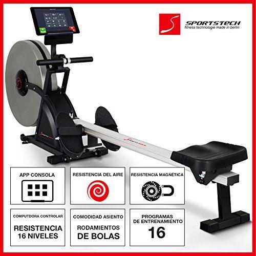 Ergómetro de remo casero Sportstech RX600La máquina de remo ofrece diversas posibilidades de entrenamiento para un ejercicio eficaz para todo el cuerpo.Fortalezca la espalda, las piernas y el vientre, para mejorar su postura.Entrene de forma eficiente con la consola compatible con la aplicación d... http://gimnasioynutricion.com/maquinas/remo/sportstech-rx600-maquina-de-remo-profesional-aire-magnetico-accionamiento-smartphone-control-app-con-historial-entrenamiento-12-prog