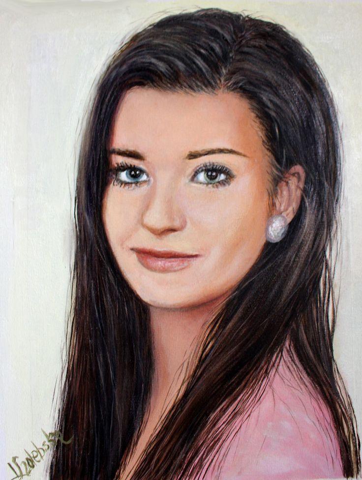 Milenka - Beauty from Poland oil painting