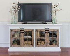 Use one of these free TV stand plans to DIY your own entertainment center for your flatscreen TV. All plans include complete building instructions.