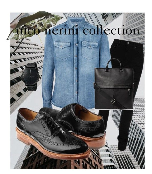 """Raiuno day"" by nico-nerini on Polyvore featuring AMIRI, Pasotti Ombrelli, Brunello Cucinelli, Skagen, men's fashion e menswear"