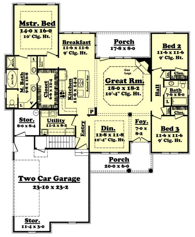 2000 FT Floor Plan | 2000 Sq. Ft. House Plan [Nelson (20-002-315)] from Planhouse - Home ...