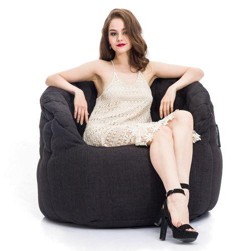 Interior Bean Bags Chair | Butterfly Sofa - Black Sapphire | Bean Bag Australia