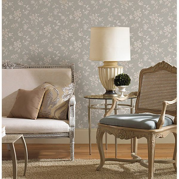 PLUMIER TAUPE MID SCALE FLORAL Pattern 988 58602 Brand Mirage Collection