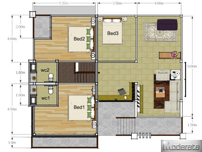 Modern Style One And A Half Storey House Plan Pinoy Eplans In 2020 House Plans Cool House Designs House