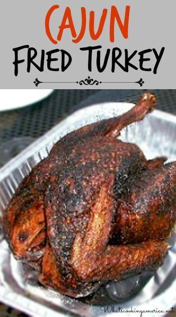 Cajun Fried Turkey Recipe & Instructions  | whatscookingamerica.net  |  #cajun #fried #turkey #thanksgiving