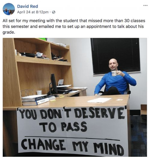 Savage Professor Is Roasting His College students By Hilariously Meme-ing Himself