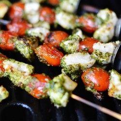 Fun summer grill recipe - Pesto Chicken Skewers
