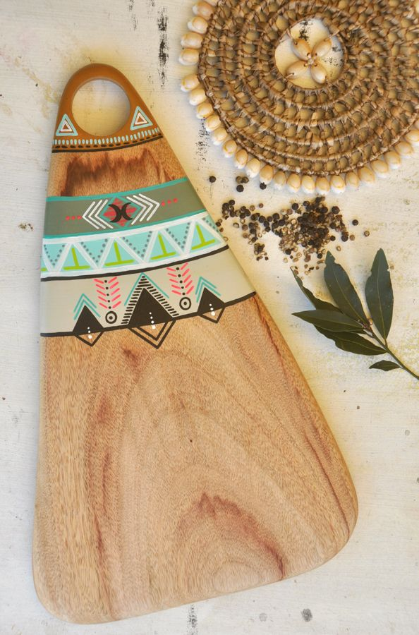 This beautiful serving board is lovingly handcrafted by Millie from reclaimed camphor timber.It is handpainted and sealed to protect the painted surface.Whether you use it to serve cheese,dips,antipastos, fruit,breakfast or even dinner, this beautiful camphor timber board will present your favorite foods with a unique style and organic simplicity.| The original| Entirely handcrafted   handpainted by Millie Fairhall| One of a kind | Strong.Durable.Versatile| B...