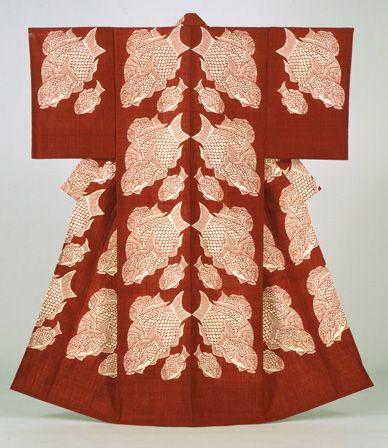 Seabream, Kimono, 1964. Serizawa Keisuke, Japan