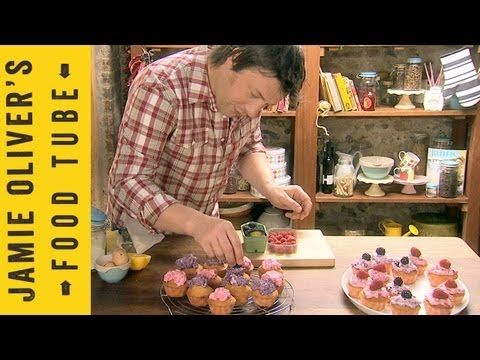 Jamie Olivers zesty fairy cakes.  Because there is nothing more manly than a guy making fairy cakes.