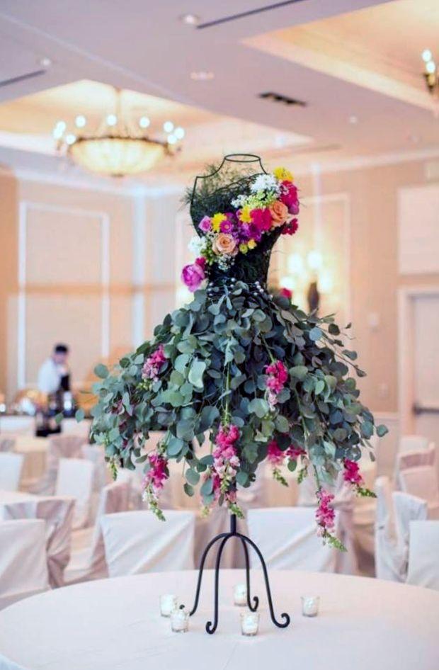 Floral Arrangement On Wire Framed Mannequin Floral