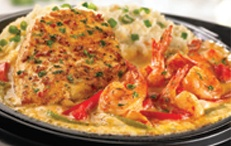 Sizzling Chicken & Shrimp from TGI Fridays, my favorite off the menu at my favorite place to eat.