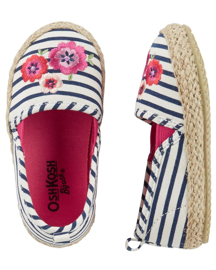 Toddler Girl OshKosh Embroidered Stripe Espadrilles from OshKosh B'gosh. Shop clothing & accessories from a trusted name in kids, toddlers, and baby clothes.