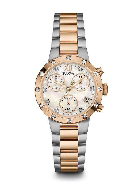 Bulova 98R210 Women's Diamond Chronograph Watch | Bulova