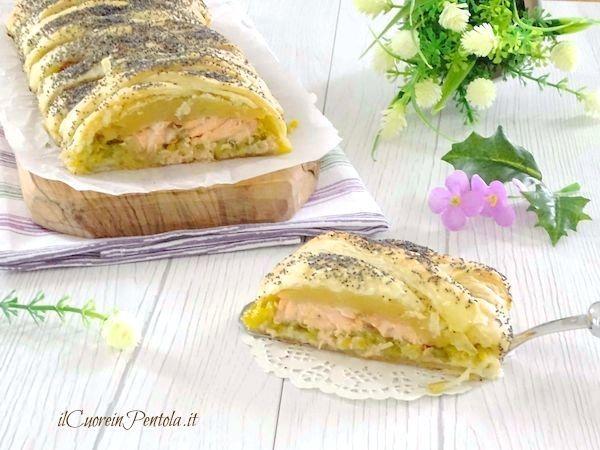 Salmone in crosta di sfoglia - Ricetta Il Cuore in Pentola