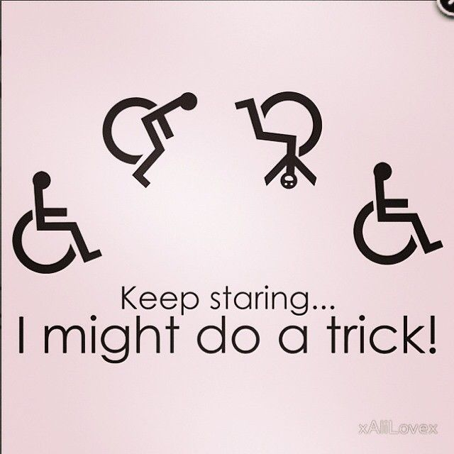 Some wheelchair humor ✨. (Borrowed this from xAliLovex on redbubble)