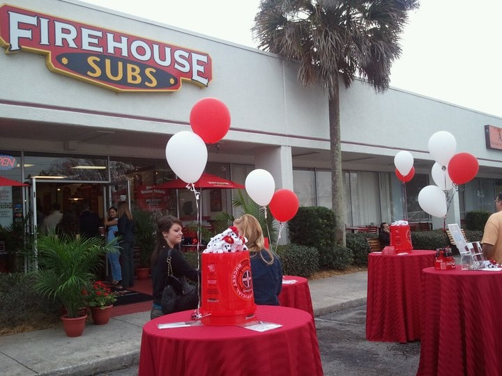 It's always a party at Firehouse Subs