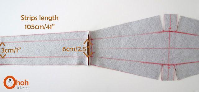 Obi belt tutorial - Ohoh Blog - diy and crafts: DIY wrapped belt