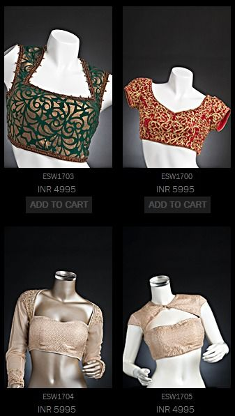 Sari blouses are going to get an injection of creative bloom! look out for it...