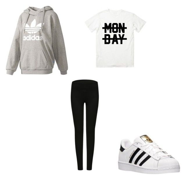 """""""#361"""" by aureeliet on Polyvore featuring adidas and Monday"""