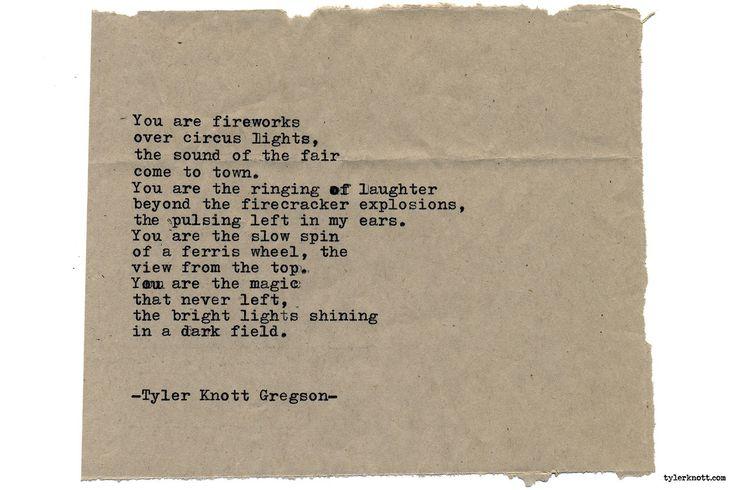 Typewriter Series #2124 by Tyler Knott Gregson