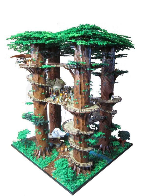 Minifig-scale Ewok Village | The Brothers Brick | LEGO Blog