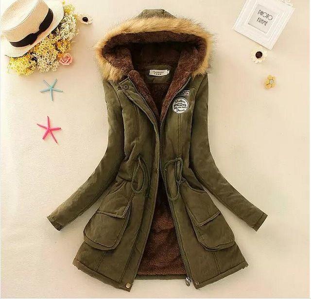 Femmes De Fourrure Longue Parka Plus La Taille Hoodies Femmes Manteaux Mode Automne Chaud D'hiver Vestes Casual Coton Outwear Chaude Parkas manteau
