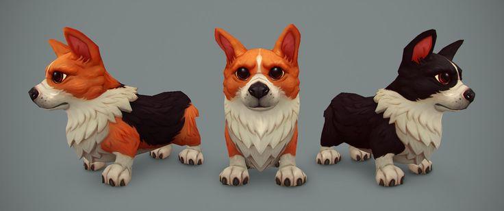 World of Warcraft - Corgi, Kelvin Tan on ArtStation at https://www.artstation.com/artwork/ZOkRN