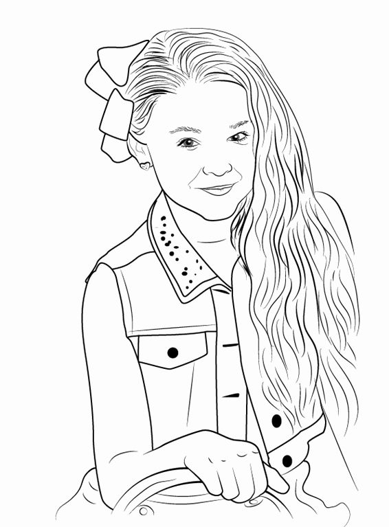 Coloring Pages Jojo Siwa Cinebrique