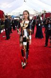 Alicia Vikander Wears a Sequined Colorblock Masterpiece of a Dress to the SAG Awards
