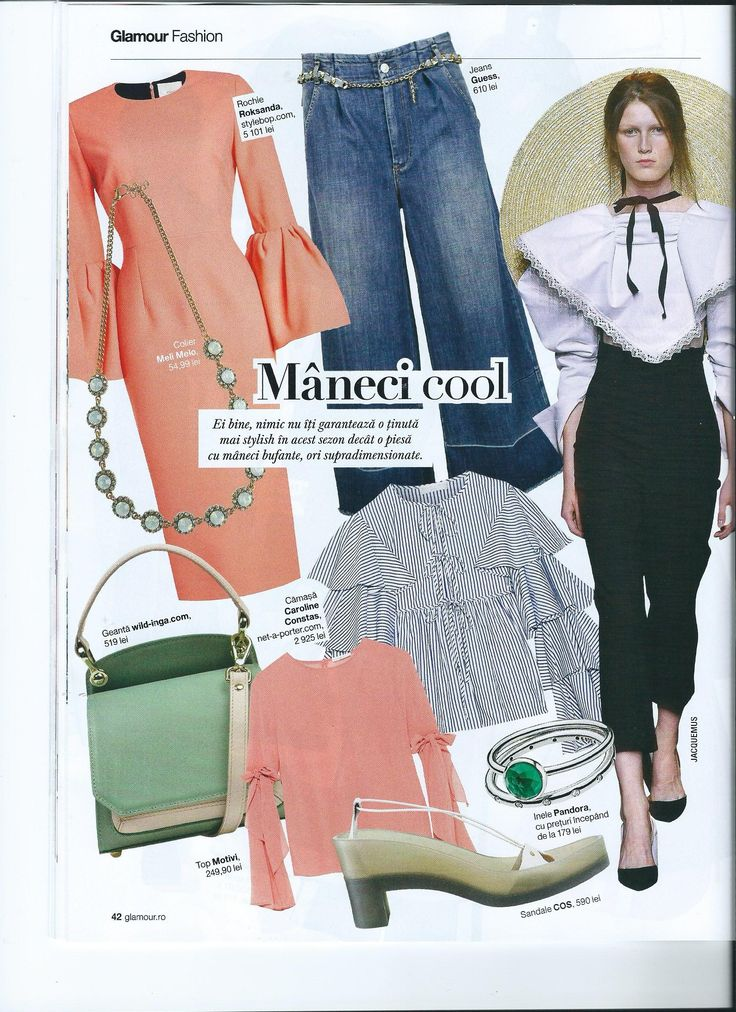 Glamour Magazine talks about cool sleeves & trendy leather bags. Green Scarlett mini Bag is a must this spring. Get it from our online shop.