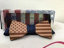 Papillon In Legno Di Pero, Inciso E Tagliato Al Laser, bandiera americana   eBay