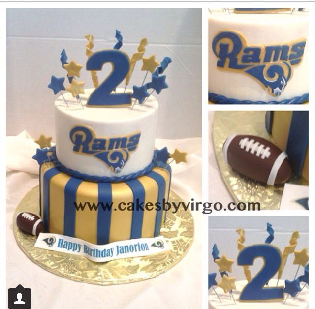 St Louis Rams Cake Cakes Amp Cupcakes Pinterest