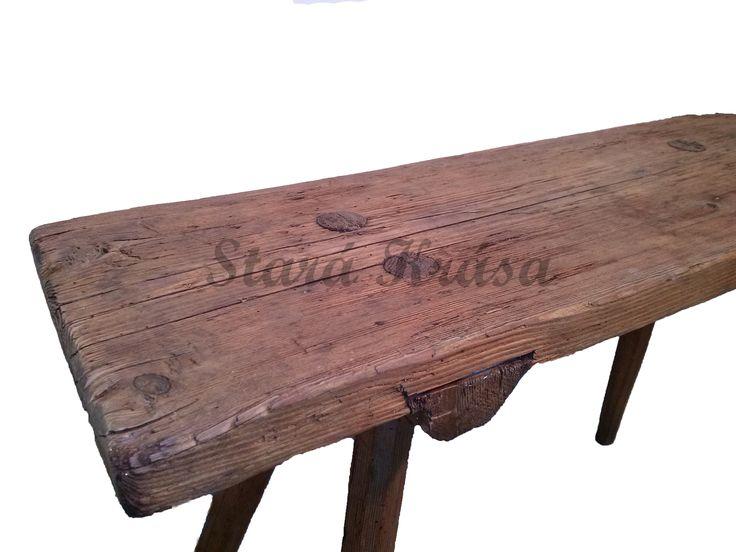Selská stolička - originální patina.