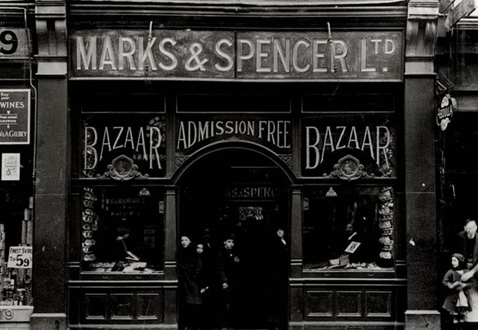 Credit: Getty Images A Marks & Spencer store in Holloway, London 1914