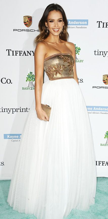 Look of the Day - November 10, 2014 - Jessica Alba in Andrew Gn from #InStyle