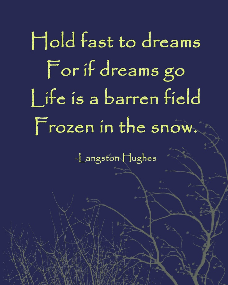 HOLD FAST TO YOUR DREAMS: 30 inspirational quotes about life
