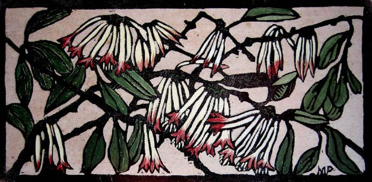 Margaret Preston Woodblock 'Australian Mistletoe'