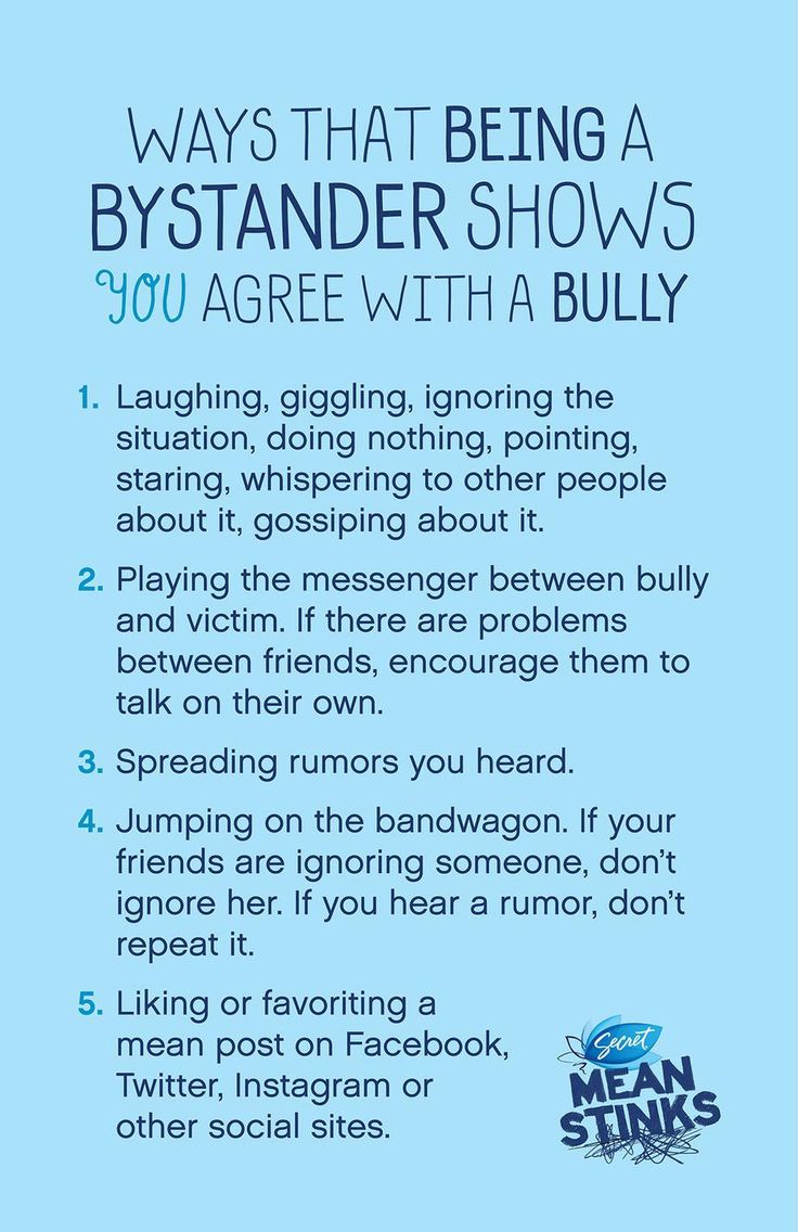 Anti bullying posters to download here.