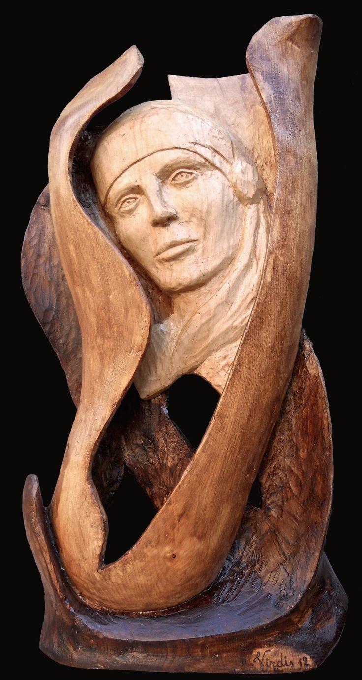 Scultura in legno: Viso (2012)