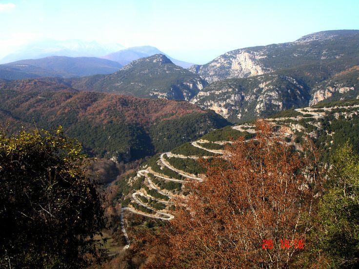 The road to the Hotel.. Papigo Zagaroxoria Greece