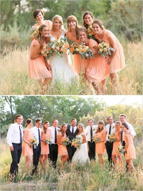 98f880ade9d Peach Wedding In Colorado Wine Country