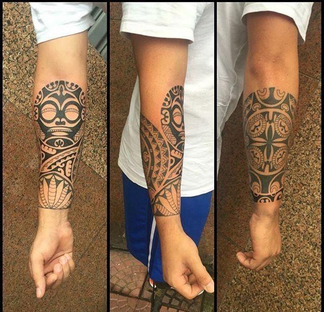 28+ Tatouage polynesien avant bras bracelet homme inspirations