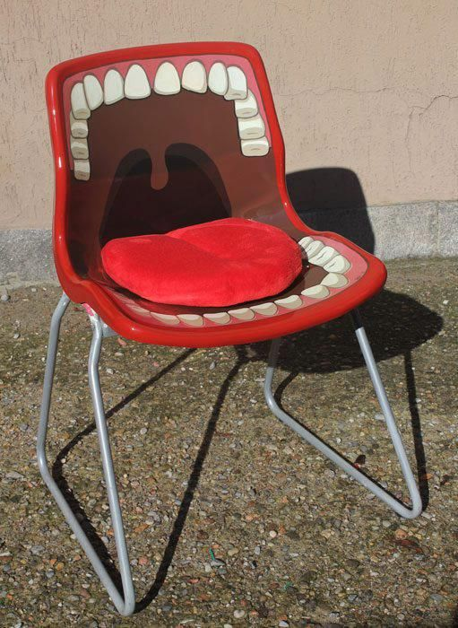 I think this chair is really orginal, its the standard shape of a chair yet the design is cool and quite retro