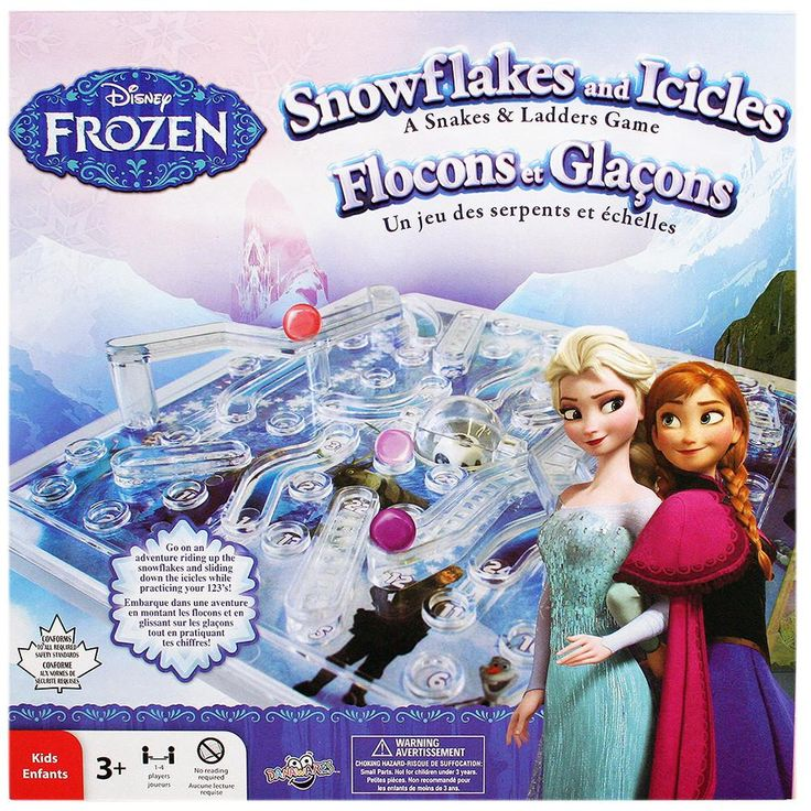 Disney Frozen Snowflakes and Icicles [A Snakes and Ladders Game]