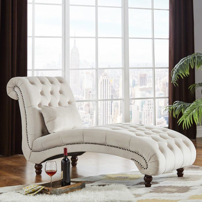 Meridienne Capitonnee Huskins Chaise Lounge White Furniture Living Room Modern Living Room Inspiration