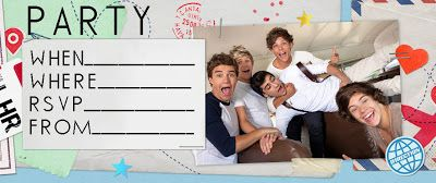 This site has lots of  1D - One Direction party invitations for birthdays - there are two to choose from. If you click on the invite the image will open nice and big - these are really big and sharp images / pictures - then when you have chosen which one you'd like to use to invite guests to your party, either print the invitation or RIGHT click on it to save it to your PC for later. These look great when printed on card stock rather than just paper.
